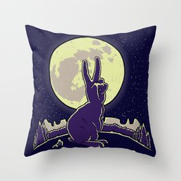 The Rabbit Throw Pillow