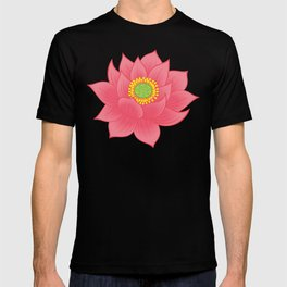 Om, Buddhist Lotus Flower T-shirt