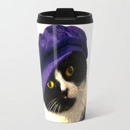 Cat Blue Hat Travel Mug