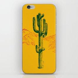 green cactus, yellow desert iPhone Skin