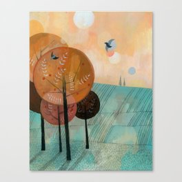 Trees & Birds Canvas Print