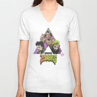 zombies V-neck T-shirts featuring FLATBUSH ZOMBIES by WHIP