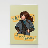 kili Stationery Cards featuring Kili at Your Service by Hattie Hedgehog