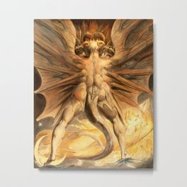 """William Blake """"The Great Red Dragon and the Woman Clothed in Sun"""" Metal Print"""