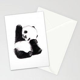 baby panda Stationery Cards