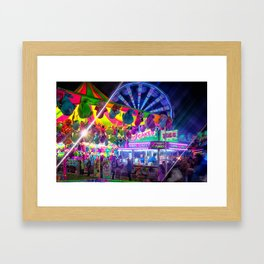 Fun Fun and Funnel Cakes at the carnival Framed Art Print