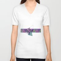 triangles V-neck T-shirts featuring Triangles by gretzky