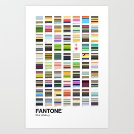 Sanchez & Smith - FANTONE® Collection Art Print