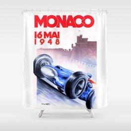 1948 Monaco Grand Prix Race Poster  Shower Curtain
