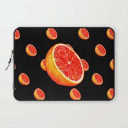 Grapefruit Pattern - Black Laptop Sleeve