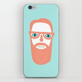 Carry your love in your beard iPhone Skin