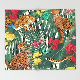 tropical wild Throw Blanket