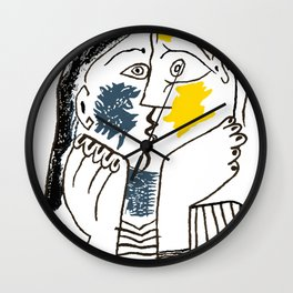 Pablo Picasso Kiss 1979 Artwork Reproduction For TShirts, Framed Prints Wall Clock