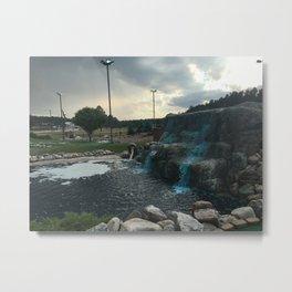 Papa Smurf's Waterfall Metal Print