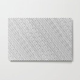 Binary Code - diagonal version Metal Print