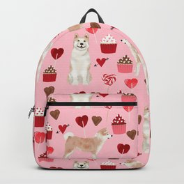 Akita valentines day cupcakes dog breed hearts pet portrait akitas pet friendly Backpack