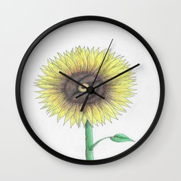 Seeing Sunflowers Wall Clock