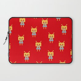 Shy Little Robot (red) Laptop Sleeve