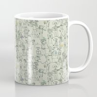 it crowd Mugs featuring crowd by Ed Hepp
