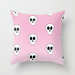Skul pattern Throw Pillow