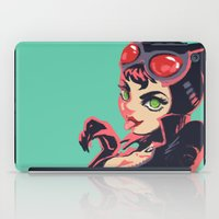 catwoman iPad Cases featuring Catwoman by Piano Bandit