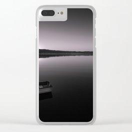 Boats on Knysna Lagoon at sunrise Clear iPhone Case