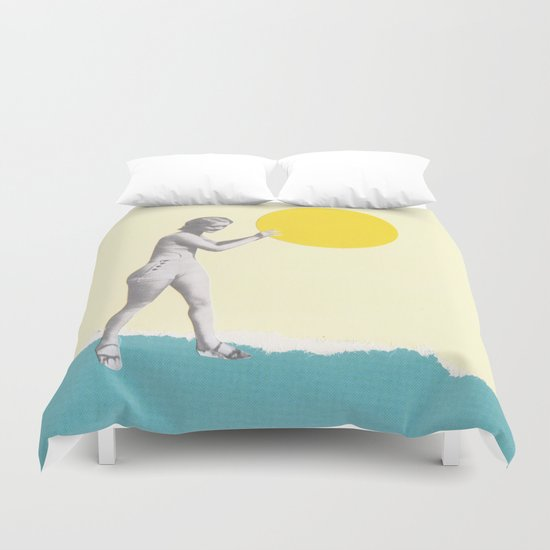 She Caught the Sun Duvet Cover