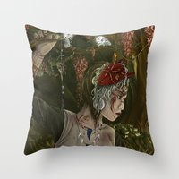mononoke Throw Pillows featuring mononoke by Devon Busby Busbyart
