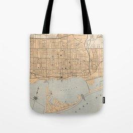 Vintage Map of Toronto (1906) Tote Bag