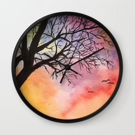 Dream Fantasy Original Watercolor Wall Clock