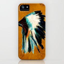 Native Headdress Orange Edit iPhone Case