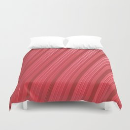 Stripes II - Red Duvet Cover