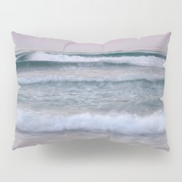 Sea waves. Summer sunset Pillow Sham