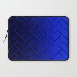 Herringbone Gradient Dark Blue Laptop Sleeve