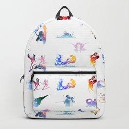 final fantasy logo pattern Backpack