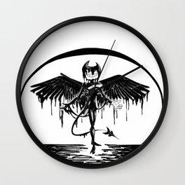 Bendy, the fallen angel Wall Clock