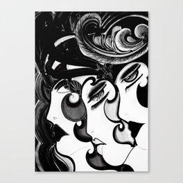 ART DECO MOD DOLLY FLAPPERS  TRIO Canvas Print