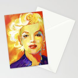 Marilyn I Red Stationery Cards