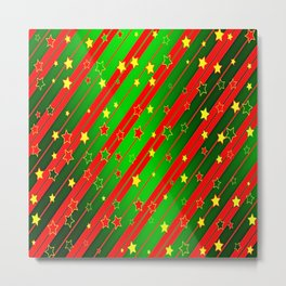 Holiday Season Stars and Stripes  Metal Print