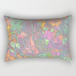 Denim Collage Print Rectangular Pillow