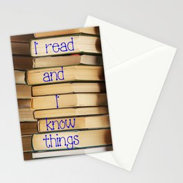 Reading Makes You Know Things Stationery Cards