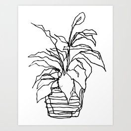 plant at the bank Art Print