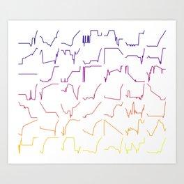 Fish tracks Art Print