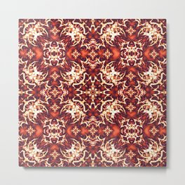 Fancy Ornament Pattern Metal Print