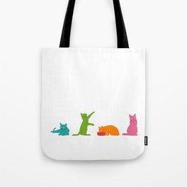 Cats Multicolor Tote Bag