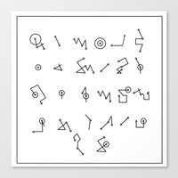 alphabet Canvas Prints featuring ALPHABET  by Mansken