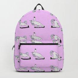 Unicorn Yoga Pattern Rose Backpack