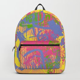 Complex 1   Soft Pastel Abstract Art   Pastel Wall Art Backpack
