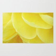 Petals in Yellow Rug