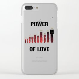 Bombes power of love colors rose noir urban fashion culture Jacob's 1968 Paris Agency Clear iPhone Case